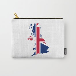 UK Flag Map Carry-All Pouch