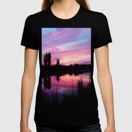 Pink Sunset Mirror Lake T-shirt