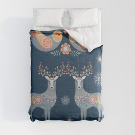 Nordic Winter Blue Comforters