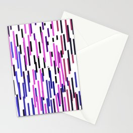 Design ethnic lines on white Stationery Cards