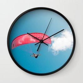 Paraglide parapente Wall Clock
