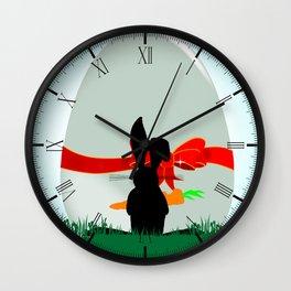 Amazed Rabbit Wall Clock