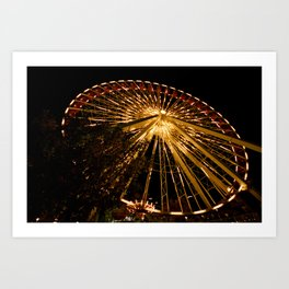 Navy Pier Ferris Wheel Art Print