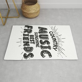 Country Music Sunshine And Best Friends Gift Rug