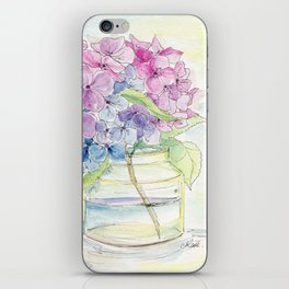 Hydrangea, Still Life iPhone Skin