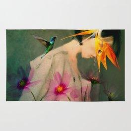 Woman between flowers / La mujer entre las flores Rug