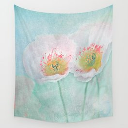 Vintage Poppies 24 Wall Tapestry