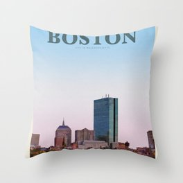 Visit Boston Throw Pillow