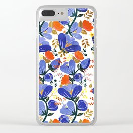 folk spring flowers no2 Clear iPhone Case