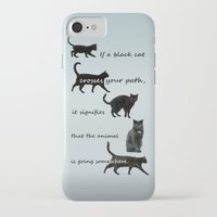 marx iPhone & iPod Cases featuring Black cat crossing, v.2 by IvanaW