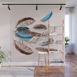 Feather in fashion Wall Mural