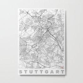 Stuttgart Map Line Metal Print