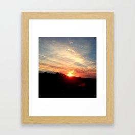 Montana Sunrise Framed Art Print