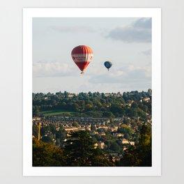 Balloons over Bath Art Print