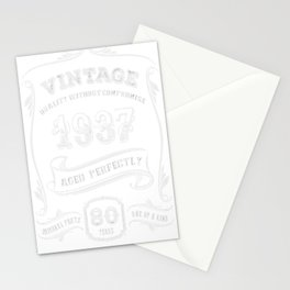 Vintage-1937---80th-Birthday-Gift-Idea Stationery Cards
