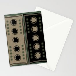 """Tribal Viridian Stars"" Stationery Cards"