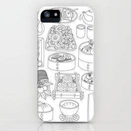 Sunday Dim Sum - Line Art iPhone Case