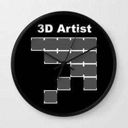 3D Artist Wall Clock