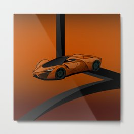 racing super car Metal Print