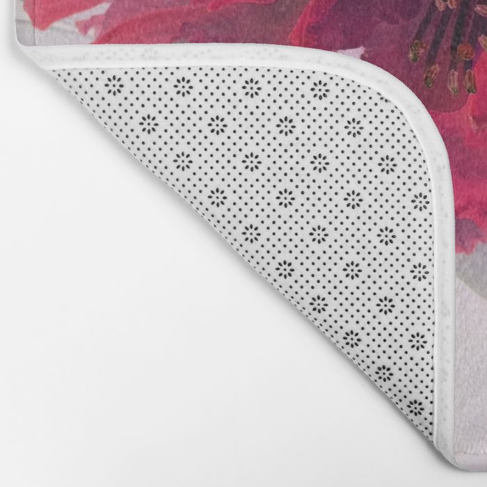 Solarized flowers with red petals Bath Mat