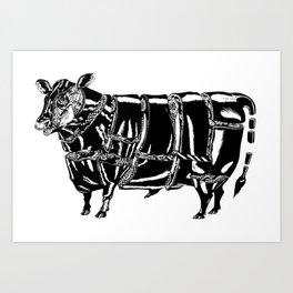Butcher Art Print