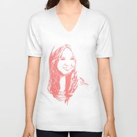 karen V-neck T-shirts featuring Karen Gillan by josie leigh
