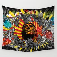 return Wall Tapestries featuring He shall return. by ADIDA FALLEN ANGEL