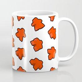 Meeple Mania Fireman Red Pattern Coffee Mug