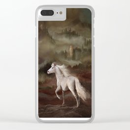 Storybook Stallion Clear iPhone Case