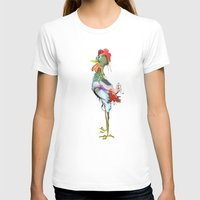 rooster T-shirts featuring rooster by tatiana-teni