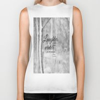 les miserables Biker Tanks featuring Les Miserables Quote Winter by KimberosePhotography