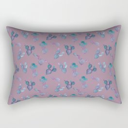 Purple Cactus Rectangular Pillow