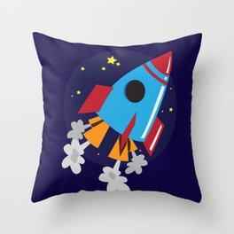 Space Cruiser Throw Pillow