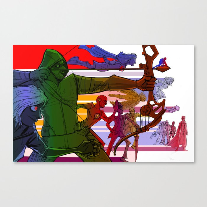 The 2015 Justice League of Television Canvas Print