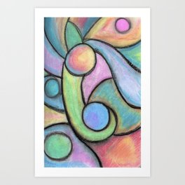 All the Colors Fade when your Away Art Print