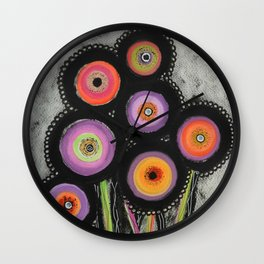 Flowers #6 Wall Clock