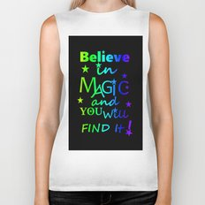 Believe In Magic Biker Tank