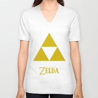 triforce V-neck T-shirts featuring Triforce by Jynxit