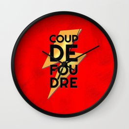 Coup de Foudre / Red Wall Clock