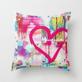 Heart palette Throw Pillow