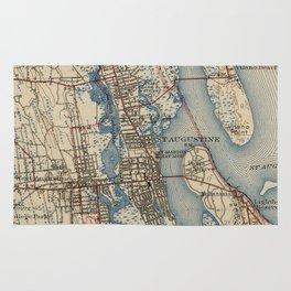 Vintage Map of St. Augustine Florida (1937) Rug