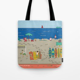 Afternoon at the sea Tote Bag