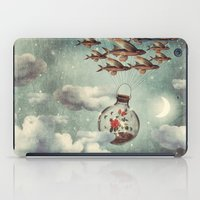 karu kara iPad Cases featuring The Rose That Wanted to See the World by Paula Belle Flores