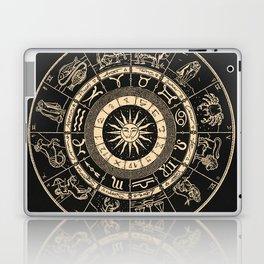 Vintage Zodiac & Astrology Chart   Charcoal & Gold Laptop & iPad Skin