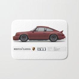 Porsche 1980 911SC Burgundy Metallic Bath Mat