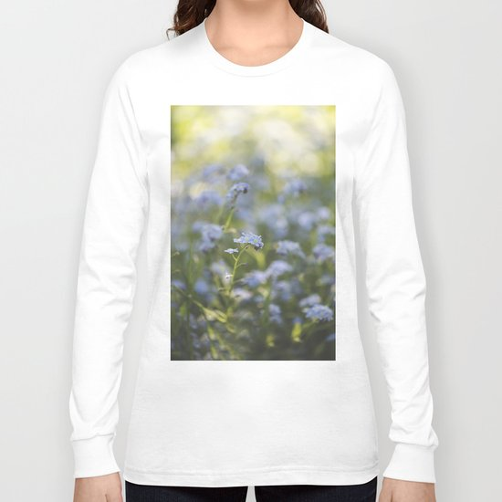 Forget-me-not meadow Spring Flower Flowers Floral on #Society6 Long Sleeve T-shirt