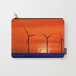 Windmills in the Sea Carry-All Pouch
