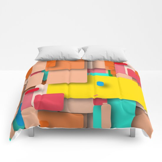 rounded rectangles Comforters