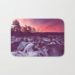 Great Falls Winter Twilight - Violet Velvet Fantasy Bath Mat