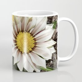 Zany Gazania - red and white stripes Coffee Mug